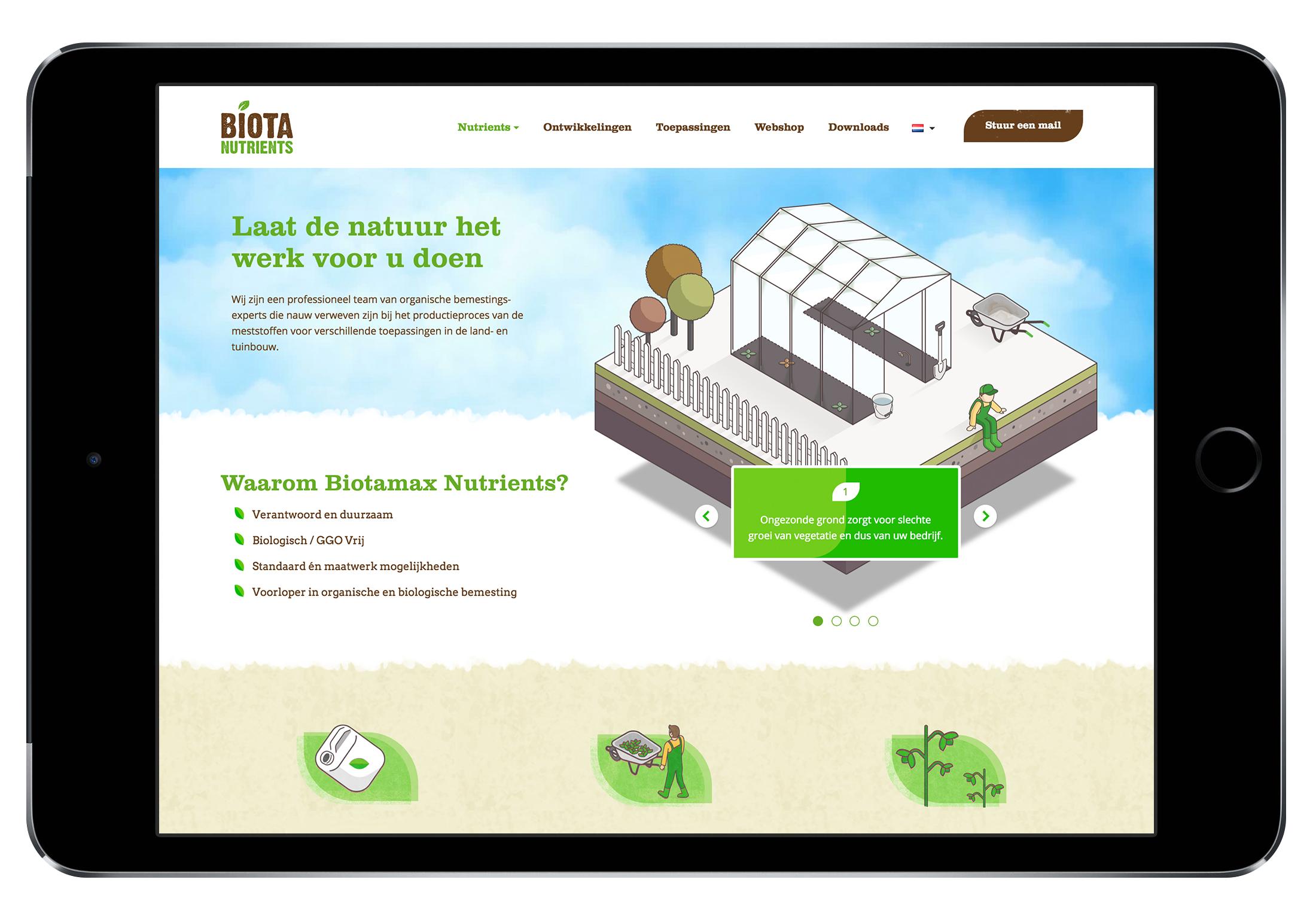 webdesign, isometrisch, biotamax, grafisch ontwerper, illustrator