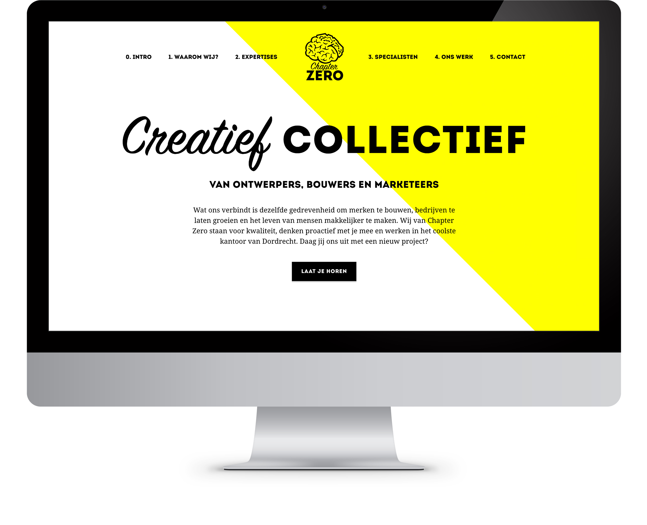 illustratie, chapter zero, grafisch ontwerp, webdesign